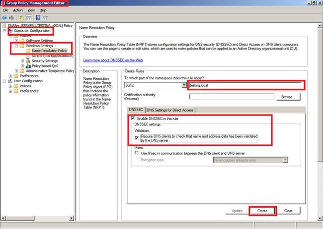 Windows 2012 DNS Security (DNSSEC)